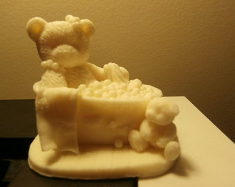 Bath Time Teddy Bear and Cub Neroli and Shea Blossom Vegan Glycerine Soap