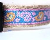 Paisley Dog Collar, Valentine Dog Collar, Pink Dog Collar, Adjustable Dog Collar, Dog Collar, Girl Dog Collar