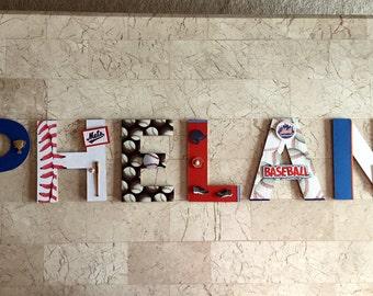 NY Mets Baseball Letters, Man Cave Wall Decor, Boys Room Decor, Pro  Baseball Sports Wall Art, Baseball Sports Wall Decor Personalized Gift