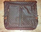 SAle Vintage L V GARMENT BAG LUGGAGE Travel Designer