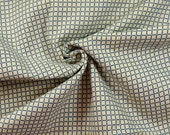 """1 yard 1930s Vintage cotton fabric art deco grid pattern  35"""" wide material sewing quilt dress wiggle"""