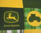 John Deere Blocks Fleece Blanket - This Blanket is Ready to Ship Now