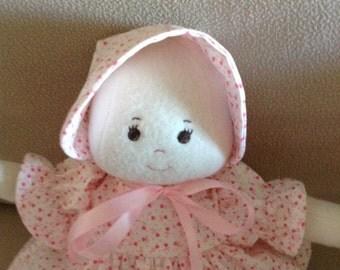 "A Faithful Friend Handmade Soft Doll, Cloth Doll ,Washable Doll ,First Doll ,Baby Doll ,Baby Shower Doll , Valentine Doll 13"""