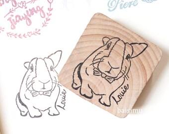 Customised pet bunny rabbit stamp