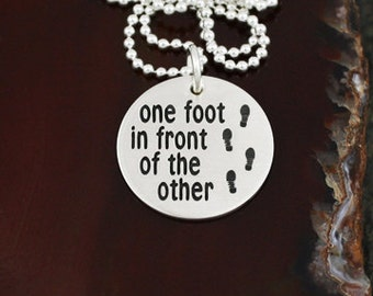 One Foot in Front of the Other - Sterling Silver Runner / Walker Jewelry