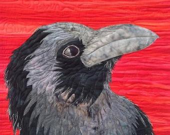 raven applique art quilt pattern tutorial