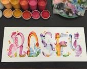 My Little Pony/Horses Name Painting (custom)