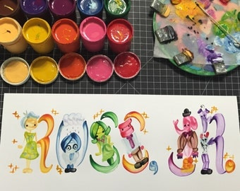 Inside Out Name Painting - Made to Order