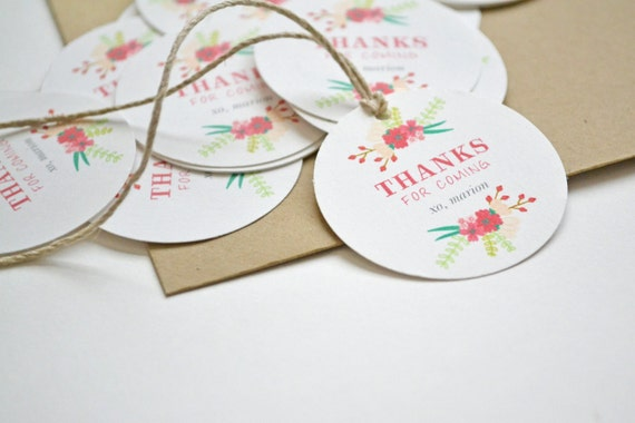 Favor Tags - Made to Coordinate with any Invitation in our Shop