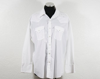 Vintage White Sheplers Pearl Snap Western Shirt
