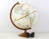 Vintage Globemaster 12Inch Globe with Metal Base by Replogle, Inc, Wedding Decor Globe, Wedding Table Decor Item No 1554