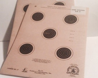1950s RIFLE TARGETS, Small Bore Rifle, Two Vintage Packs of 12 Targets Each, 1950's -- Official NRA Targets!