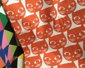 IKEA Cat Fabric Mattram Orange Cats By the Half Yard