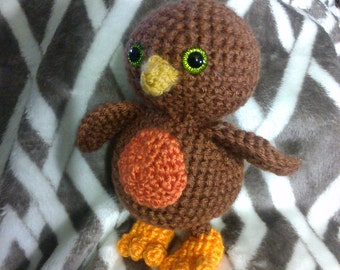 Crochet bird  robin ANY bird or colors you want