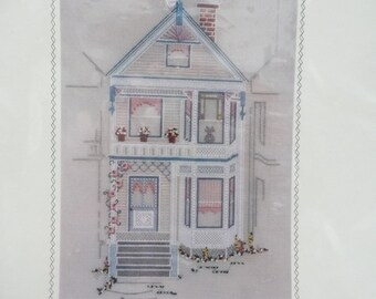 Brambleberry Lane Counted Thread on Canvas by Cheryl Schaeffer Design for Rainbow Gallery - Victorian House Counted Cross Stitch Pattern