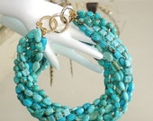 ASHIRA CLOSING SALE: My Signature Design - Ashira Dramatic Showpiece Runway - Statement Necklaces, Various Shapes and Sizes of Turquoise and