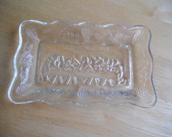 """Vintage Tiara Exclusives Small Lords Supper Plate 5 1/2"""" X 3 1/4"""" - Clear"""