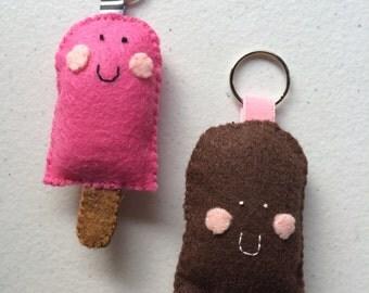 Popsicle Felt Keychain
