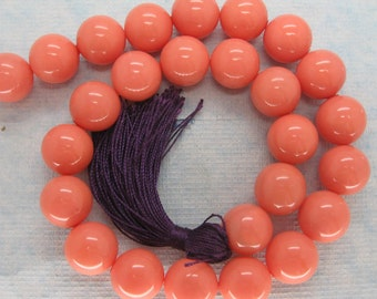 Full Strand Soft Pink South Sea Shell Pearl Beads 16mm
