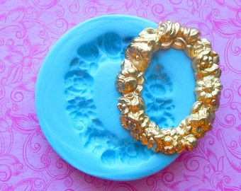 Victorian Wreath Flower Mold Silicone Resin Clay PMC Fondant Mould