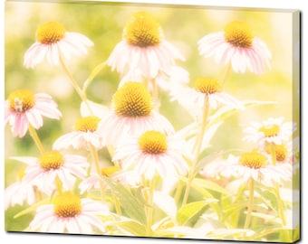 Wall Art Canvas - Large Canvas - Wildflower Canvas - Bee Canvas - Ethereal Canvas - Bathroom Canvas - Home Decor - Fine Art - 24 x 30 Canvas
