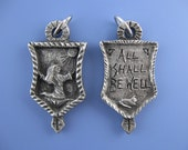 """Julian of Norwich: """"All Shall Be Well"""" (Overcoming Anxiety, Worry, Hardship), Handmade Medal"""