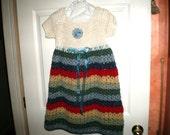 Girls Rainbow Dress in Size 7