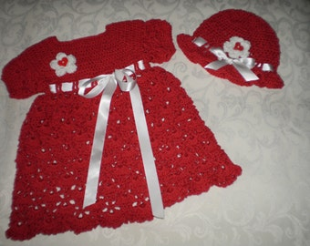 Holly Jolly Red Dress for 12 to 18  Months