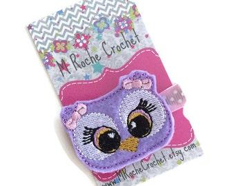 Owl hair clip, owl felt clip, baby hair clip, owl baby hair clip, toddler hair clip, hair accessory, baby accessory, hair clippies