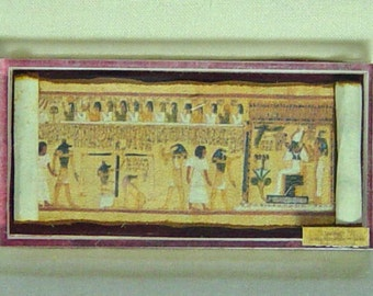 Dolls House Miniature Museum / History Egyptian Style Papyrus in case (A)