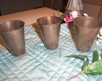 Set of 5 Metal Sugar Mold Inserts, Candles, Weddings, Rustic, Farmhouse, Organizer