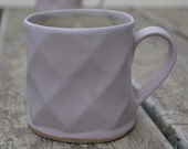 smooth textured coffee mugs in baby pink for coffee lovers