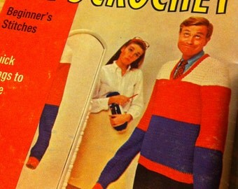 """A """"Let's Crochet!"""" beginners instruction booklet"""