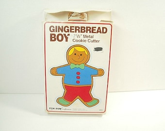 Vintage Extra Large Gingerbread Boy Cookie Cutter with Orginal Box
