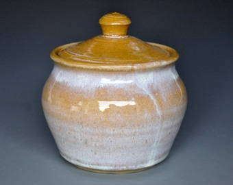 Pottery Jar Ceramic Jar Sugar Bowl Stoneware Jar A