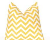 SALE Yellow Chevron Throw Pillow Covers -  Yellow Pillow Covers - Sofa Pillows - Corn Yellow Cushion Covers - Chevron Pillow Covers