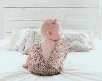 Audrey flutter back romper, baby playsuit, baby romper, baby sunsuit, baby jumper, toddler playsuit, toddler romper, kids playsuit