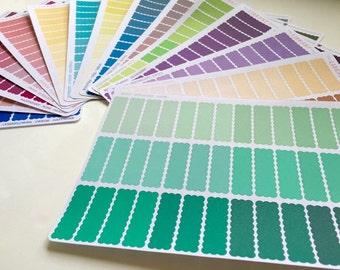 39 Scallop Quarter box planner stickers, perfect for Erin Condren, Inkwell Press, Happy Planner