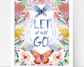 Art Print Hydrangea and Let it Go