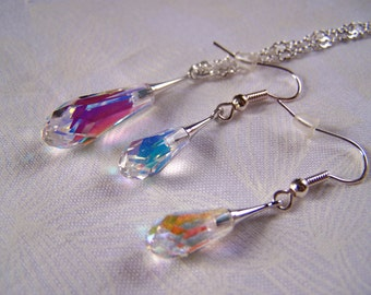 Jewelry Set Bridal Bridesmaid Prom Swarovski Pure Drop Crystals
