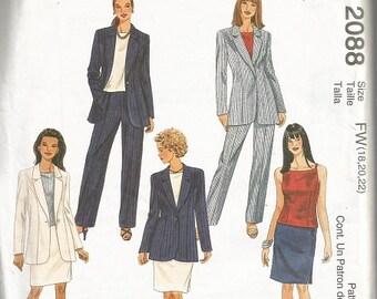 McCall's 2088 Plus Size Womens Separates Pattern SZ 18-22