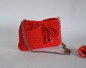 Red handbag bag red Wedding purse Shoulder bag Summer city bag Women accessories