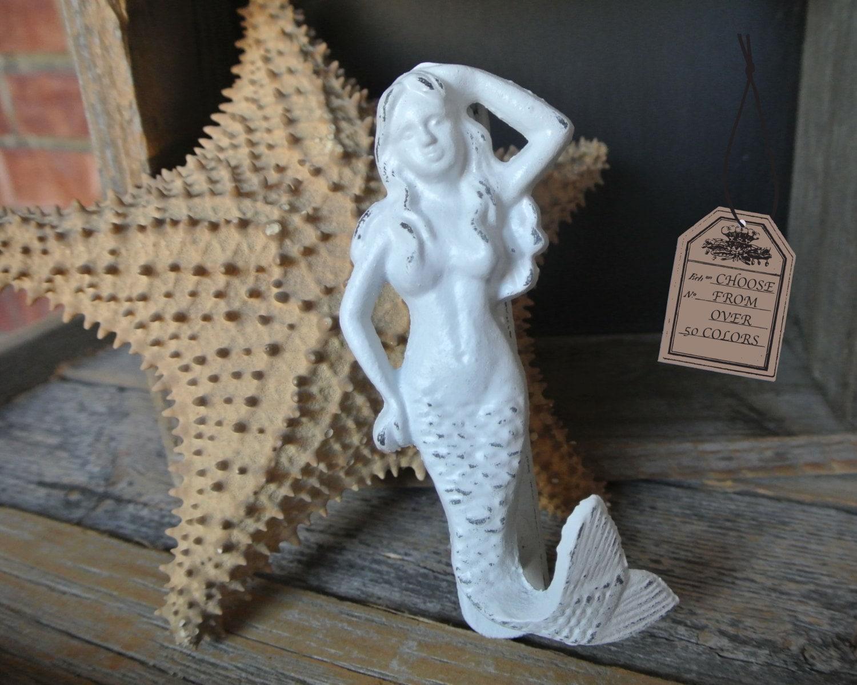Beach decor cast iron mermaid door knocker knock out mermaid - Mermaid door knocker ...