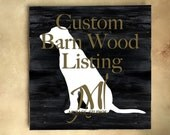 RESERVED CUSTOM Rustic Barn Wood Wall Decor Listing - White Full Body Lab Silhouette Wall Art - Wooden Chalk Paint Wall Hanging