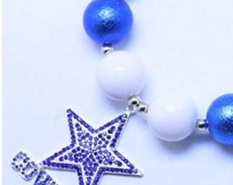 Little DIVA Dallas Cowboys Bubble Gum Necklace
