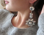 Reserved for Lauren Mexican Silver Starburst Earrings