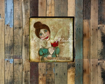 Daughter Of A Heavenly King Hand - stretched Gallery Wrapped Canvas.