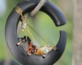 """CIELO Oval Hoop Organic Gauge Earrings Plugs Weights for Stretched Piercings 4g 2g 0g 00g 10mm 1/2"""" *CUSTOM*"""