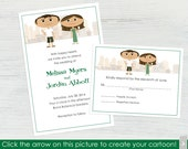 NYC Wedding Invitations and RSVP Cards – Set of 10 - Create a Cartoon You!
