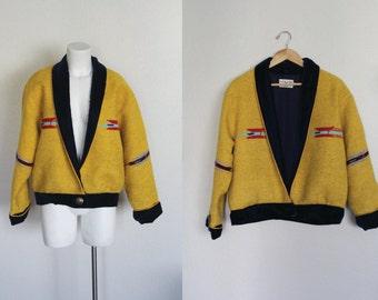 Vintage Southwestern Navajo Tapestry Jacket / Serape Jacket / Carpet Jacket / Tapestry Jacket / Southwestern Jacket / Size Medium